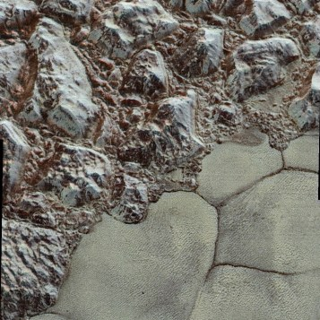 Pluto Close-up -- 50 miles wide photo