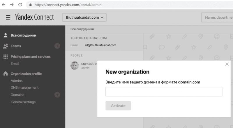 Đăng ký Yandex để tạo Email Tên Miền Miễn Phí 2