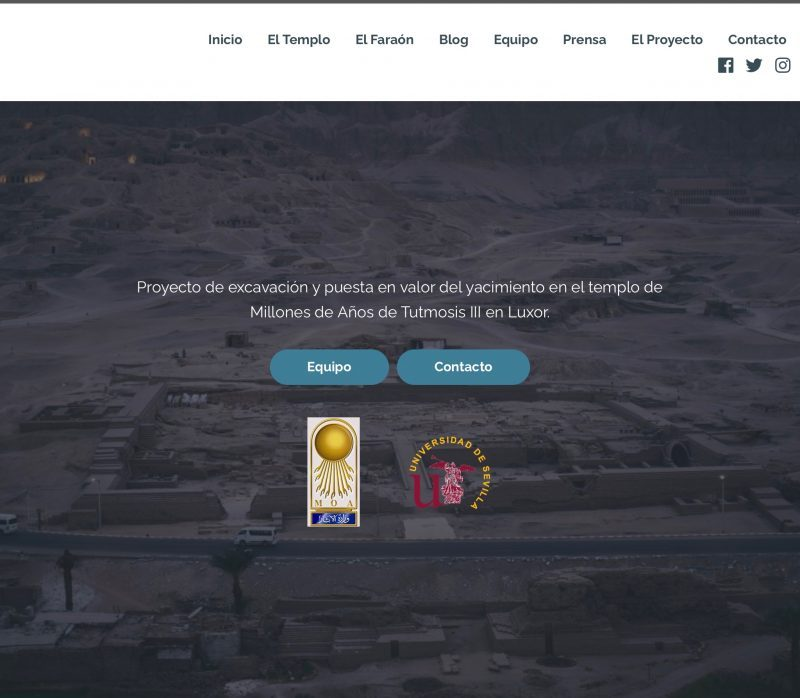 Nuevo diseño web Tutmosis III