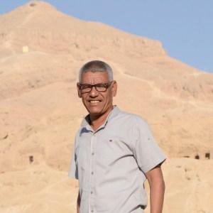 Sayed Farag El-Teiry inspector de restauración en Tutmosis III en 2021