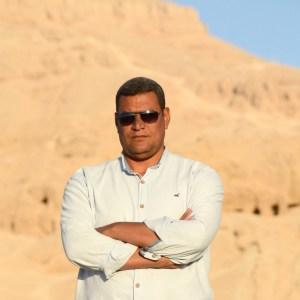 Stayed Mohamed Ali, inspector de arqueología en el yacimiento del templo de Tutmosis III en 2021.