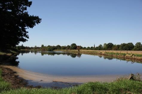 Überflutete Senke