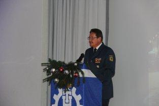 Landesbeauftragter Metzger spricht zu den Gästen. Bild:THW/Paul Jerchel