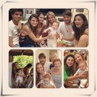 Fotos: Lua Blanco e sua Família reunidos na batizado de seu sobrinho Theo