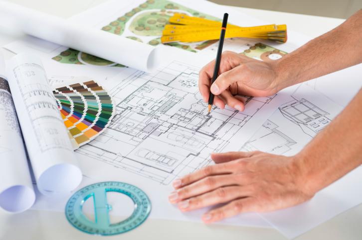 mesa trabalho arquiteto
