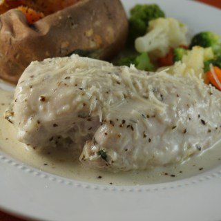 Stuffed Chicken Breast Alfredo