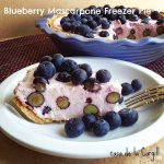 Blueberry Mascarpone Freezer Pie