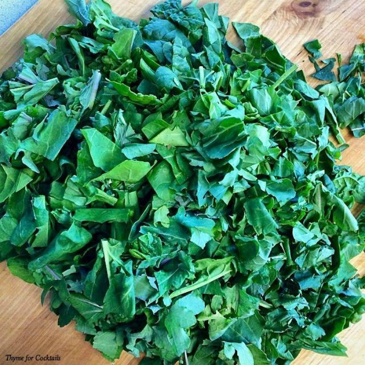 Brown Butter Sautéed Mixed Greens~ Thyme for Cocktails