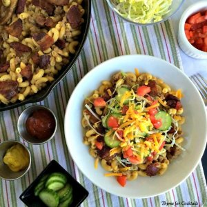 Bacon Cheeseburger Pasta Skillet~ Thyme for Cocktails