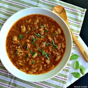 Sausage Orzo Zuppa~ Thyme for Cocktails