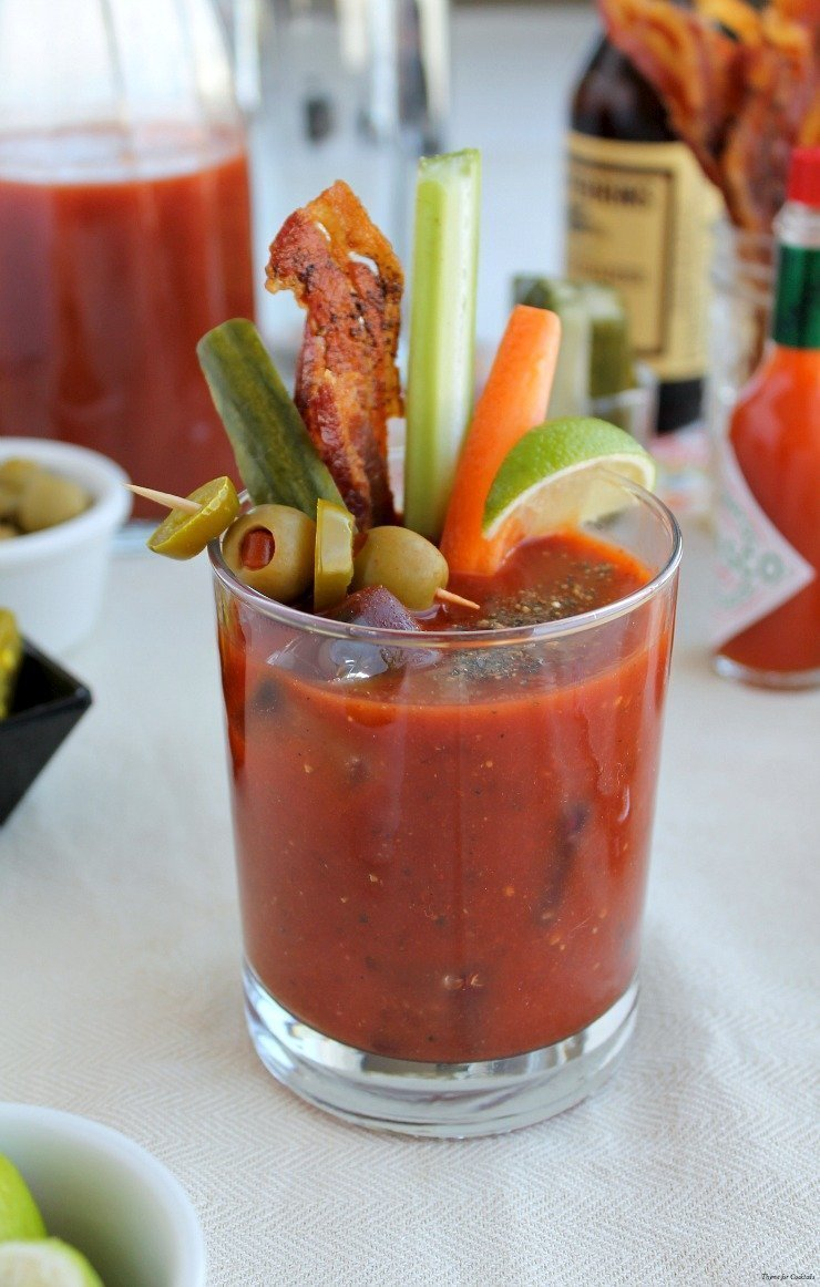 spicy southwest bloody mary thyme for cocktails. Black Bedroom Furniture Sets. Home Design Ideas