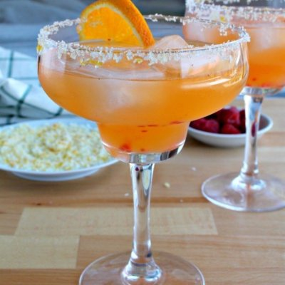 Orange Raspberry Skinny Margarita