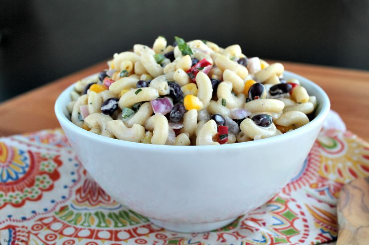 Fiesta Macaroni Salad~ Thyme for Cocktails