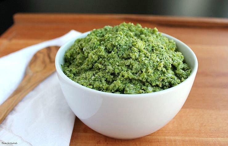 Charred Broccoli Pesto~ Thyme for Cocktails
