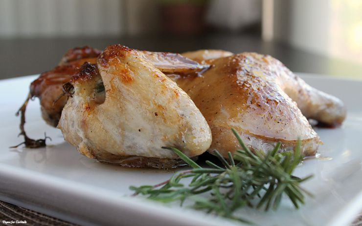 Orange Cherry Cornish Hens~ Thyme for Cocktails