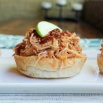 Chipotle Cider Pulled Chicken Sliders