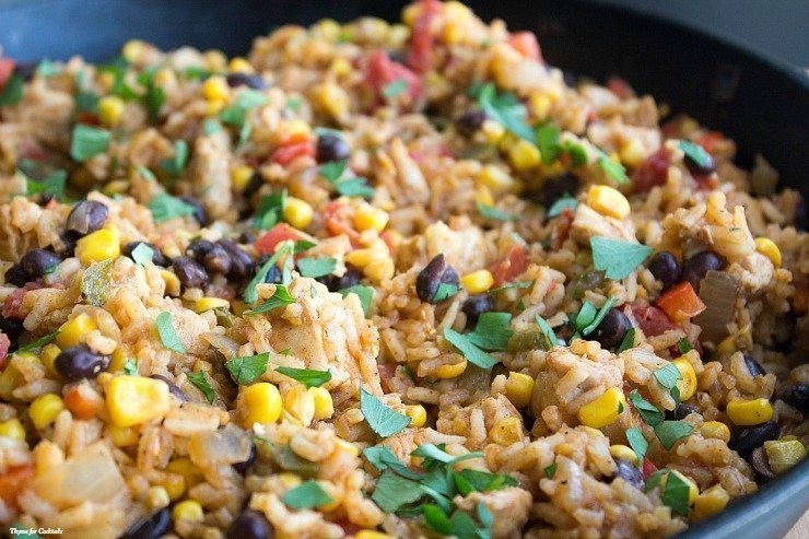 Mexican-Chicken-and-Rice-Skillet