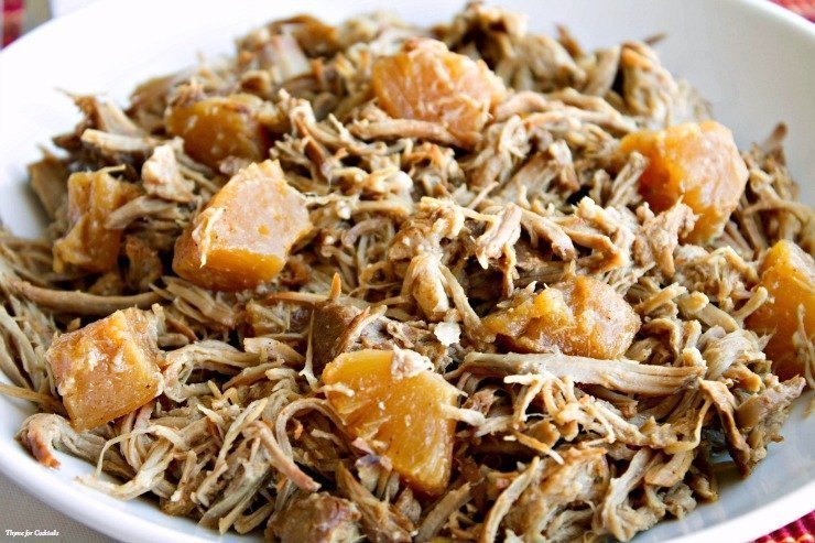 Ancho Chile Pineapple Pulled Pork