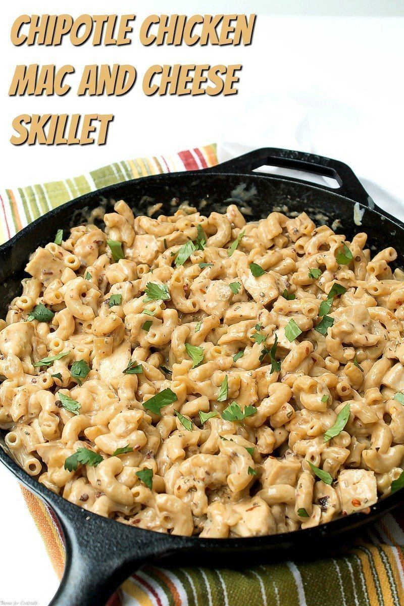 Chipotle Chicken Mac and Cheese Skillet