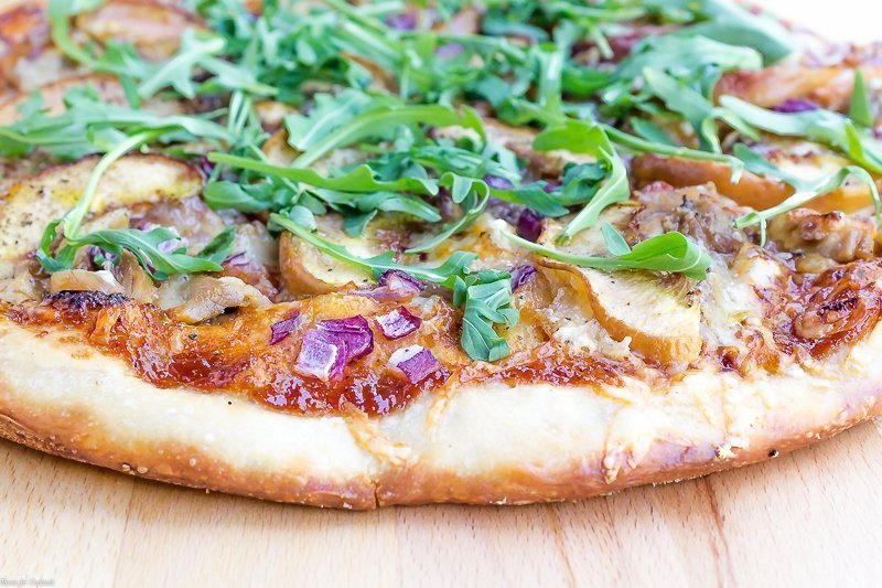Peach Barbecue Chicken Pizza