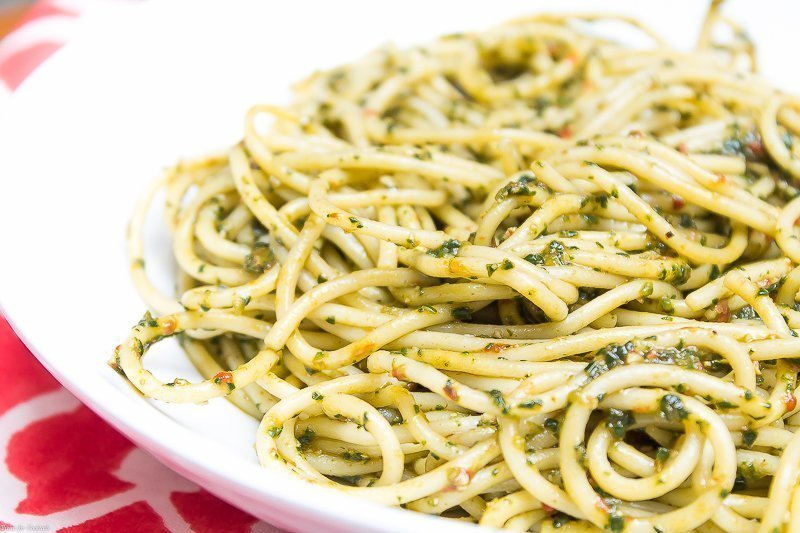 Spicy Spinach Pesto Pasta