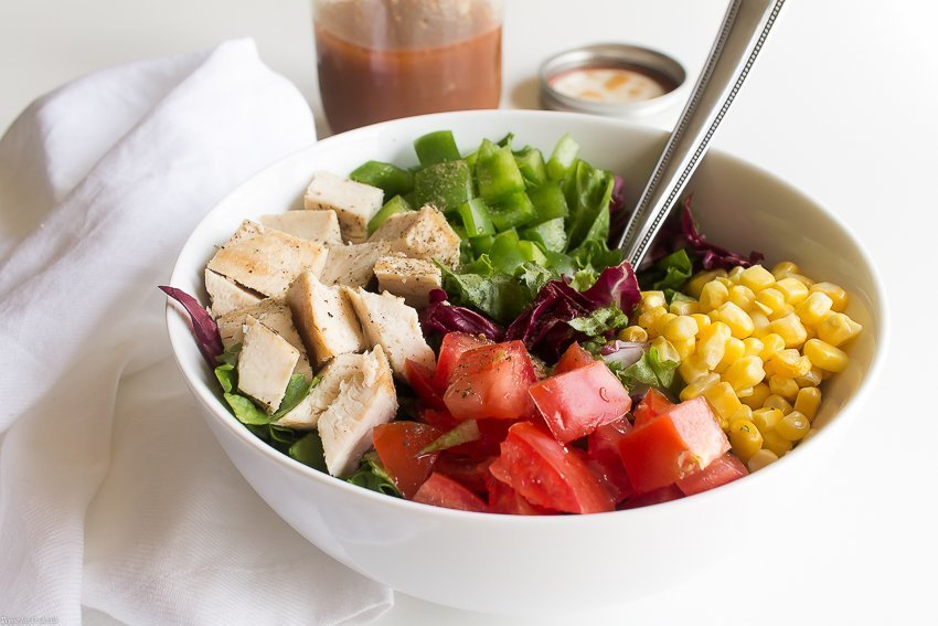 Why fire up the grill when you get all the smoky flavors you love in this Barbecue Chicken Chopped Salad instead? The secret is in the vinaigrette!