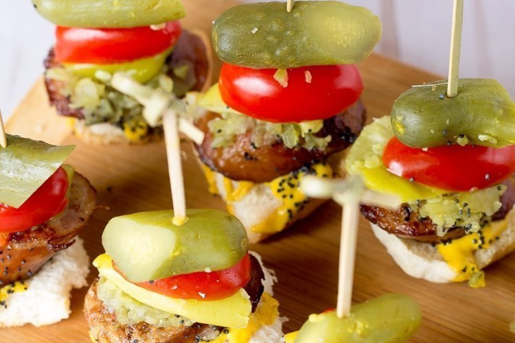 Chicago Style Hot Dog Bites Recipe