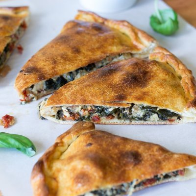 Sun Dried Tomato Basil Chicken Calzone