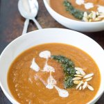 Smoky Pear Sweet Potato Soup