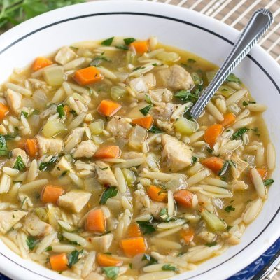 Easy 20-Minute Chicken Orzo Soup