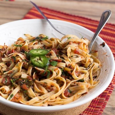 5-Ingredient Fire Roasted Salsa Pasta