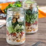 Bruschetta Chicken Mason Jar Salads