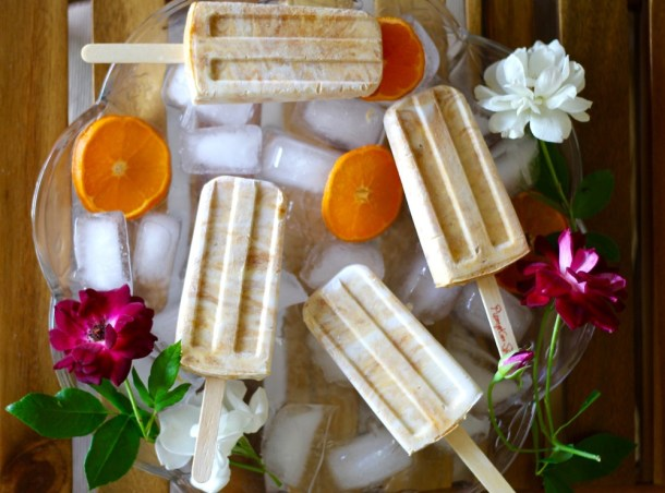 Vegan Pumpkin Spice Popsicles
