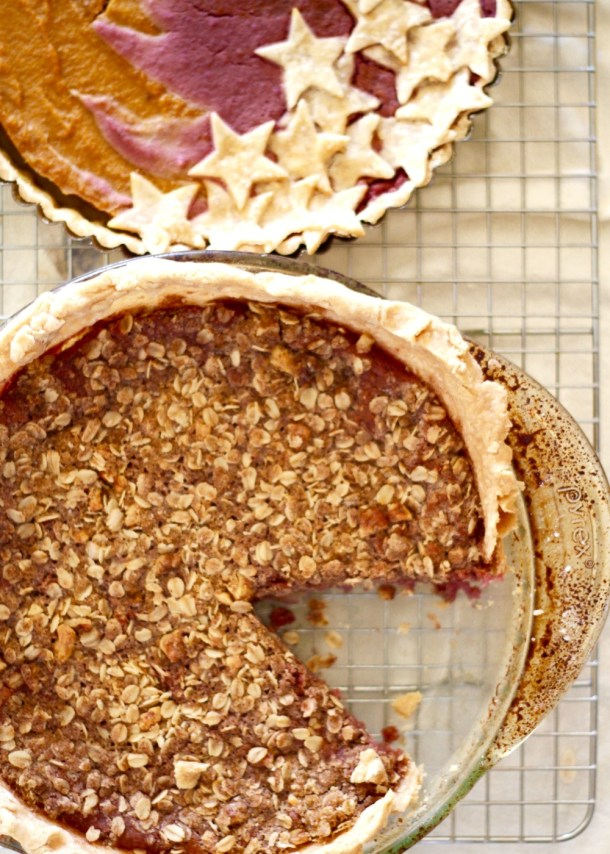 Purple Sweet Potato Pie with Streusel Topping