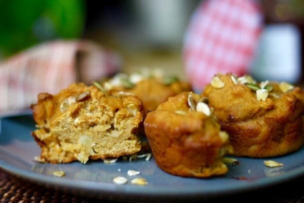 Sweet Potato Apple Muffins