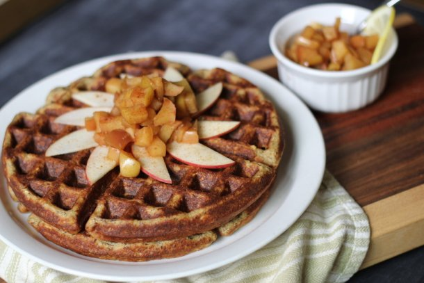 Gluten Free Applesauce Waffles