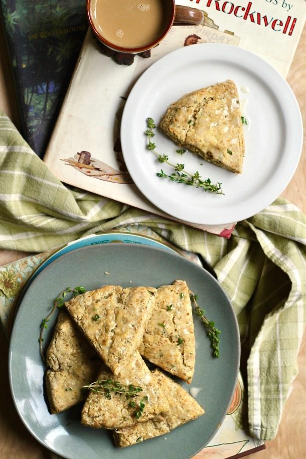Gluten free Lemon Thyme Scones