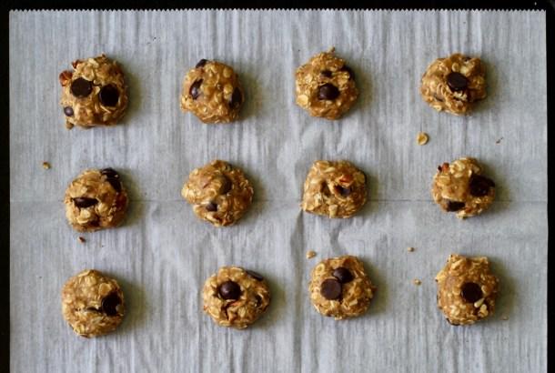 Vegan Oatmeal Pecan Chocolate Chip Cookies