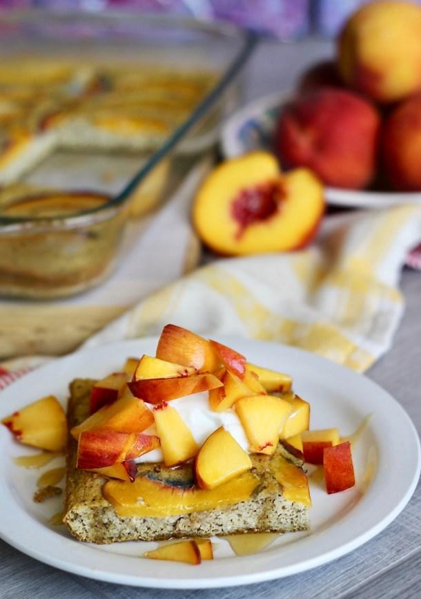 Baked Paleo Peach Pancake