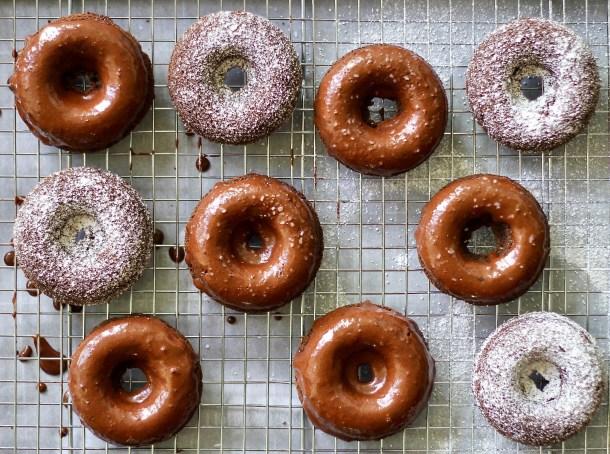 Gf Salted Chocolate Cake Donuts