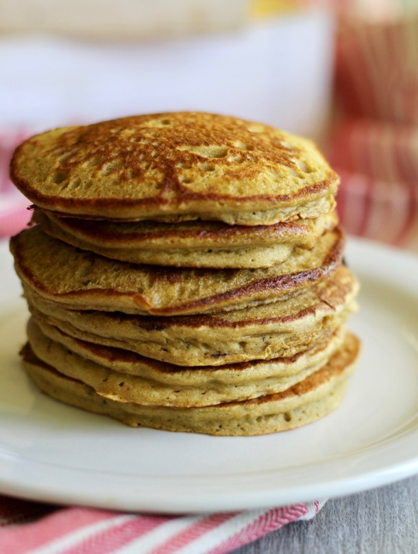 Vanilla Matcha Collagen Pancakes