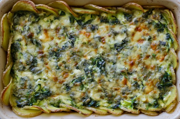 Potato Crust Veggie Quiche