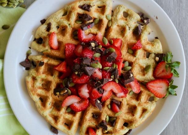 Oatmeal Zucchini Protein Waffles