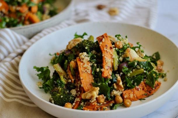 Roasted Veggie Sheet Pan Salad