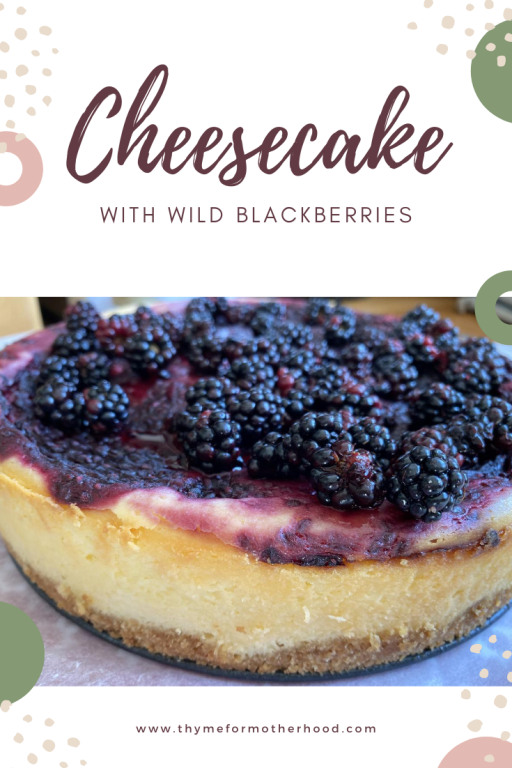 Classic Cheesecake with wild blackberries