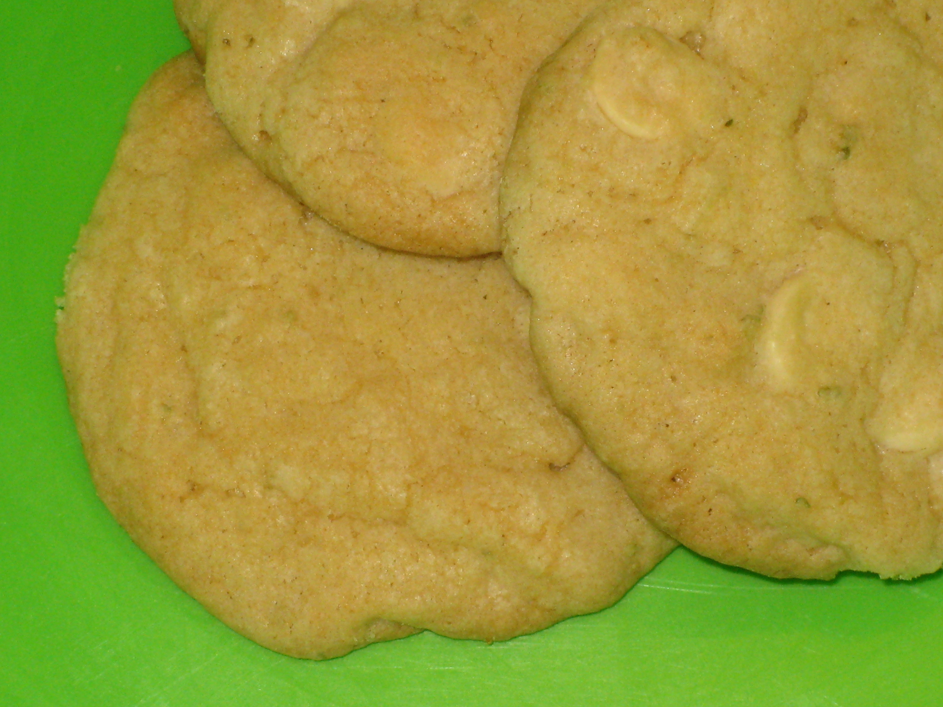 white chocolate and lime cookies