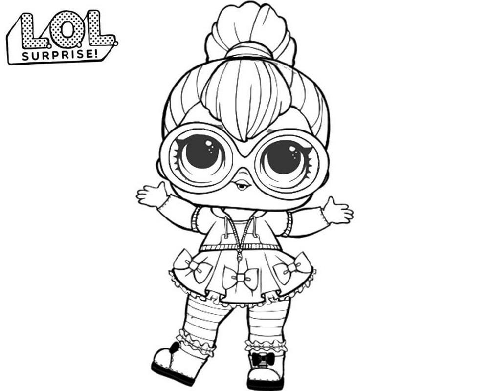 Malvorlagen LOL Surprise Puppen 80 Stück Schwarz-Weiß-Bilder
