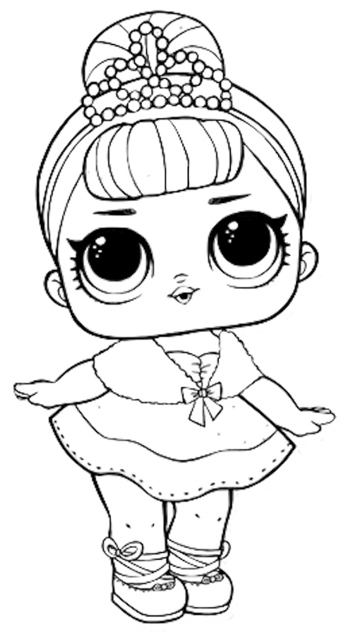 Coloring Pages of LOL Surprise Dolls. 80 Pieces of Black