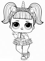 Malvorlagen LOL Surprise Puppen. 80 Stück Schwarz Weiß Bilder