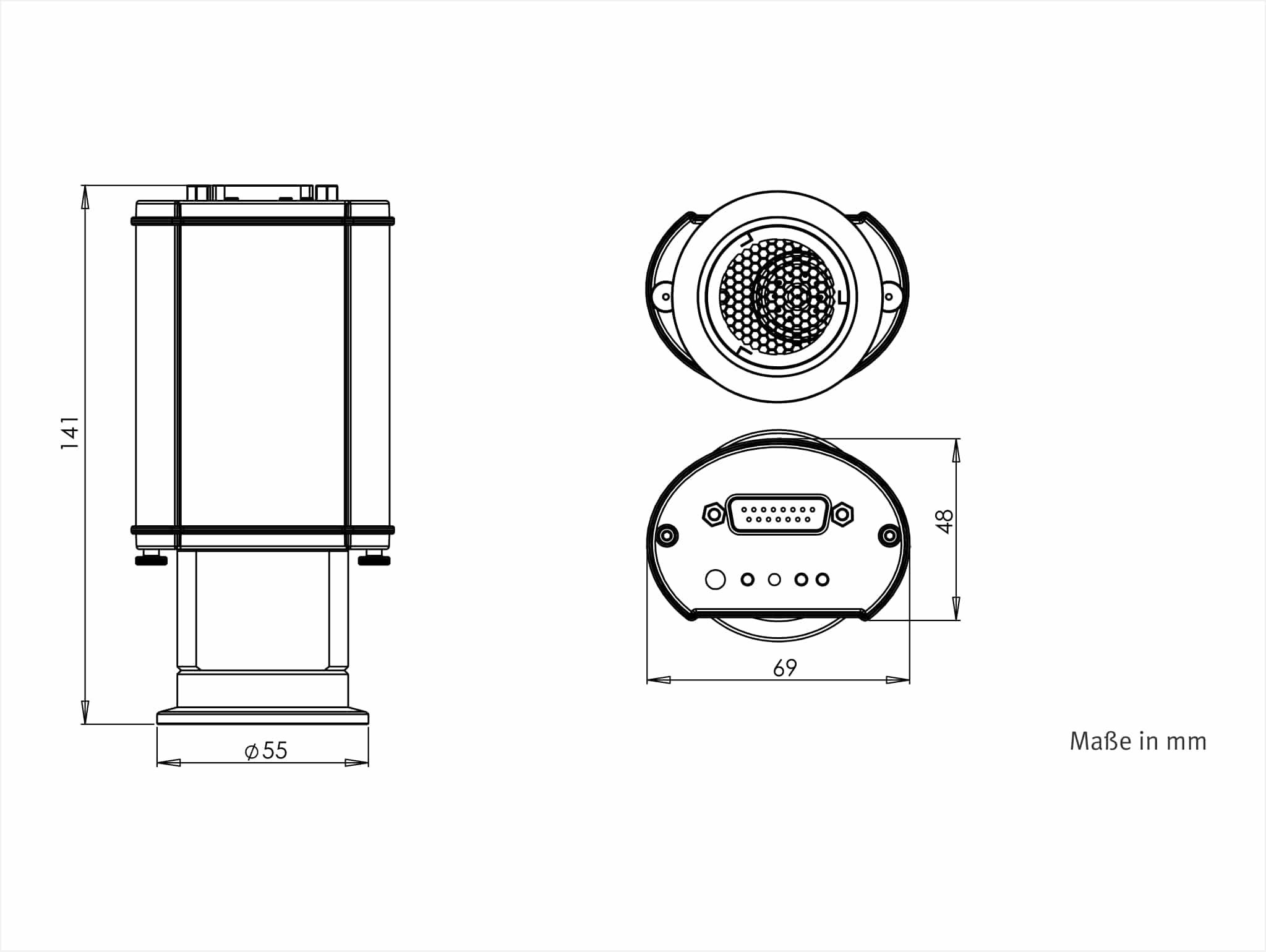 Vsh8xd Vacuum Transducer Rs485 Pirani Hot Cathode To 5e 10 Mbar